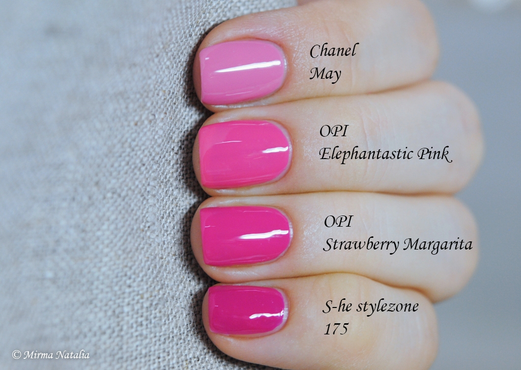 Chanel May vs. ... Opi Elephantastic Pink