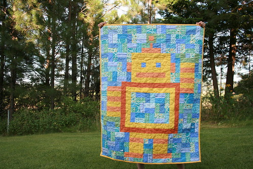 robot quilt | by Leigh - leedle deedle quilts