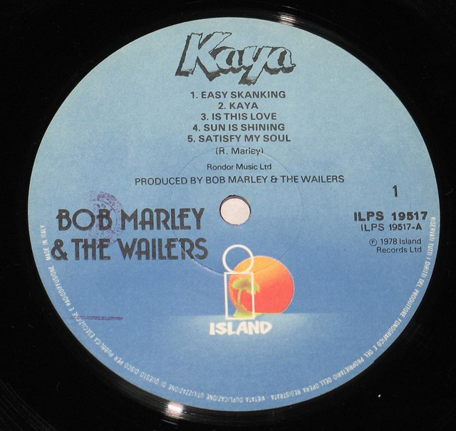 "BOB MARLEY & THE WAILERS KAYA ITALY 12"" vinyl LP"