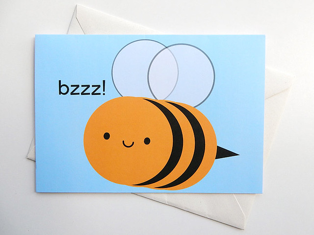 Buzzy Bee card from Thortful