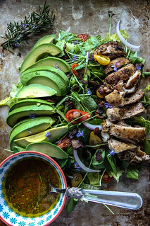 Rosemary Chicken, Avocado and Bacon Salad | by Heather Christo