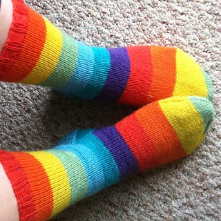 #norepeatdec Day 8: Regia Nation Color rainbow socks! | by stariel
