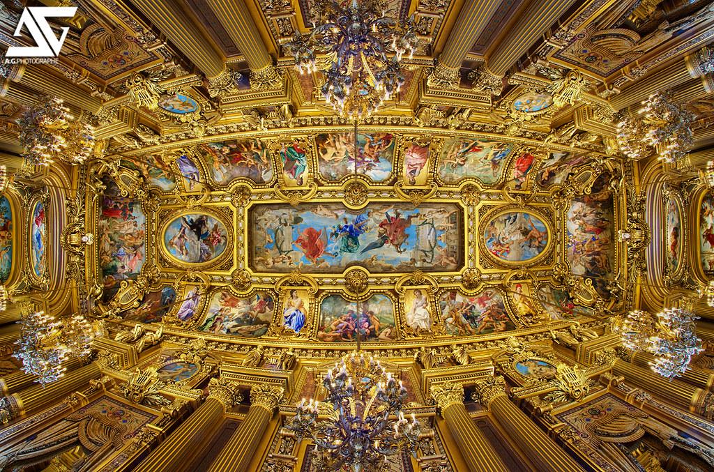 plafond de l op 233 ra garnier op 233 ra garnier h flickr