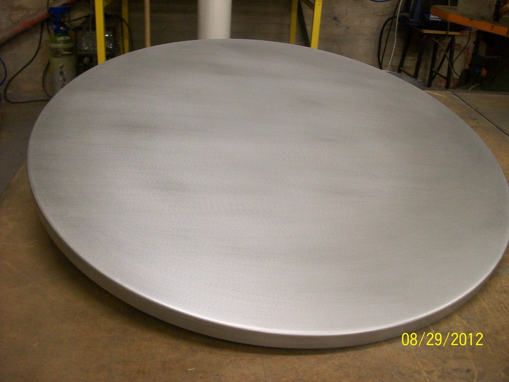 ... 3   Wrapped Circular Zinc Table Top Satin Finish | By Metal Sheets  Limited