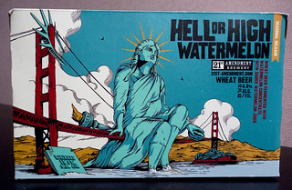 Hell or High Watermelon Wheat Beer by 21st Amendment Brewery | by Scott Beale
