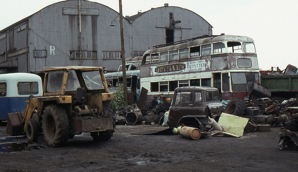 Cardiff Trolleybus In South Wales Scrap Yard June 1983