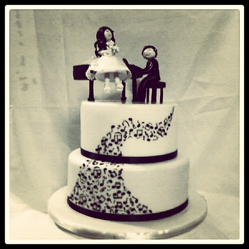 Final Cake Of The Year. Musical Theme Wedding Cake. Will P