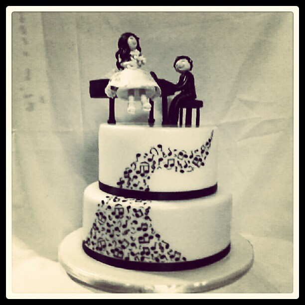 Final Cake Of The Year Musical Theme Wedding Cake Will P