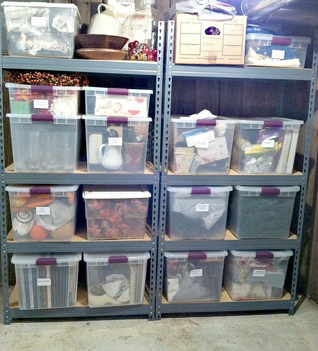 Clear Storage Tubs: