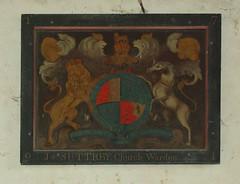 royal arms 1791 J SUTTRBY Church Warden