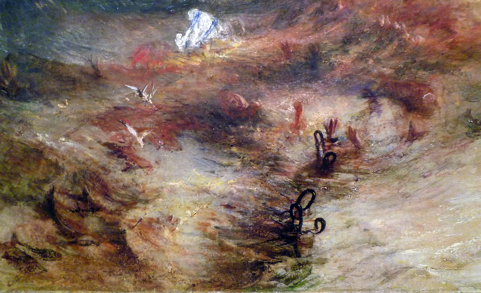 JMW Turner, Slave Ship, detail with chains | by profzucker