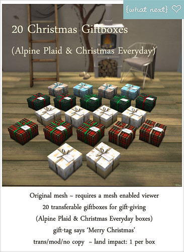 {what next} 20 Giftboxes - Alpine Plaid and Christmas Everyday Vendor | by WinterThorn