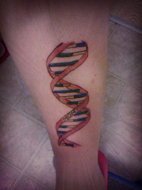 dna double helix tattoo my latest tat a dna double