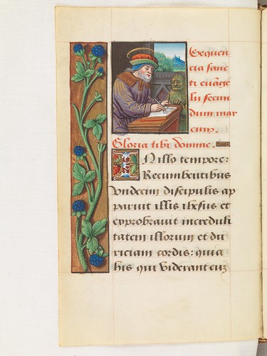 Evangelist portrait of St. Mark in a 16th century manuscript | by Virtual Manuscript Library of Switzerland