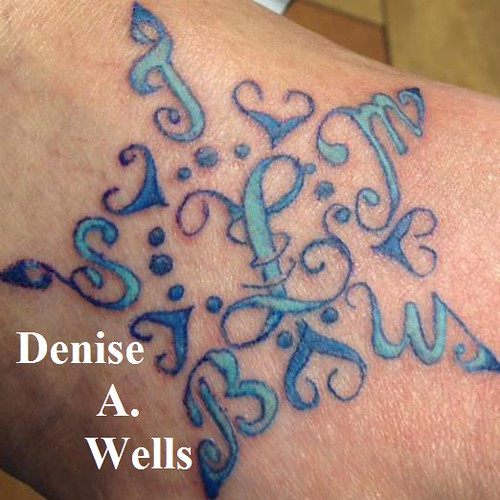 custom star tattoo design by denise a wells custom star t flickr. Black Bedroom Furniture Sets. Home Design Ideas