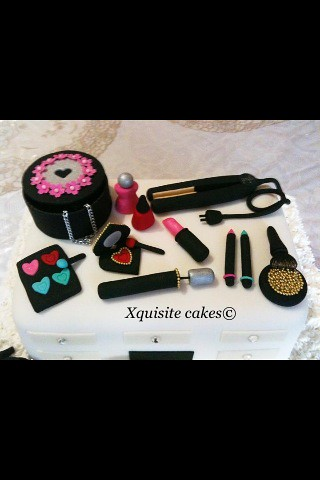 Dressing table cake | This is not cake but burfee a sweet me… | Flickr