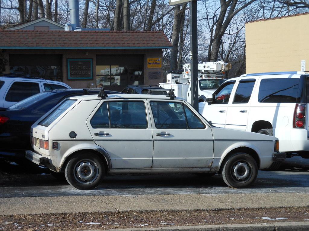 Old White Vw Rabbit The Original Volkswagen Golf Called Flickr