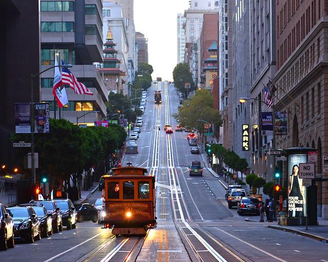 Cuestas brutales del área financiera de San Francisco