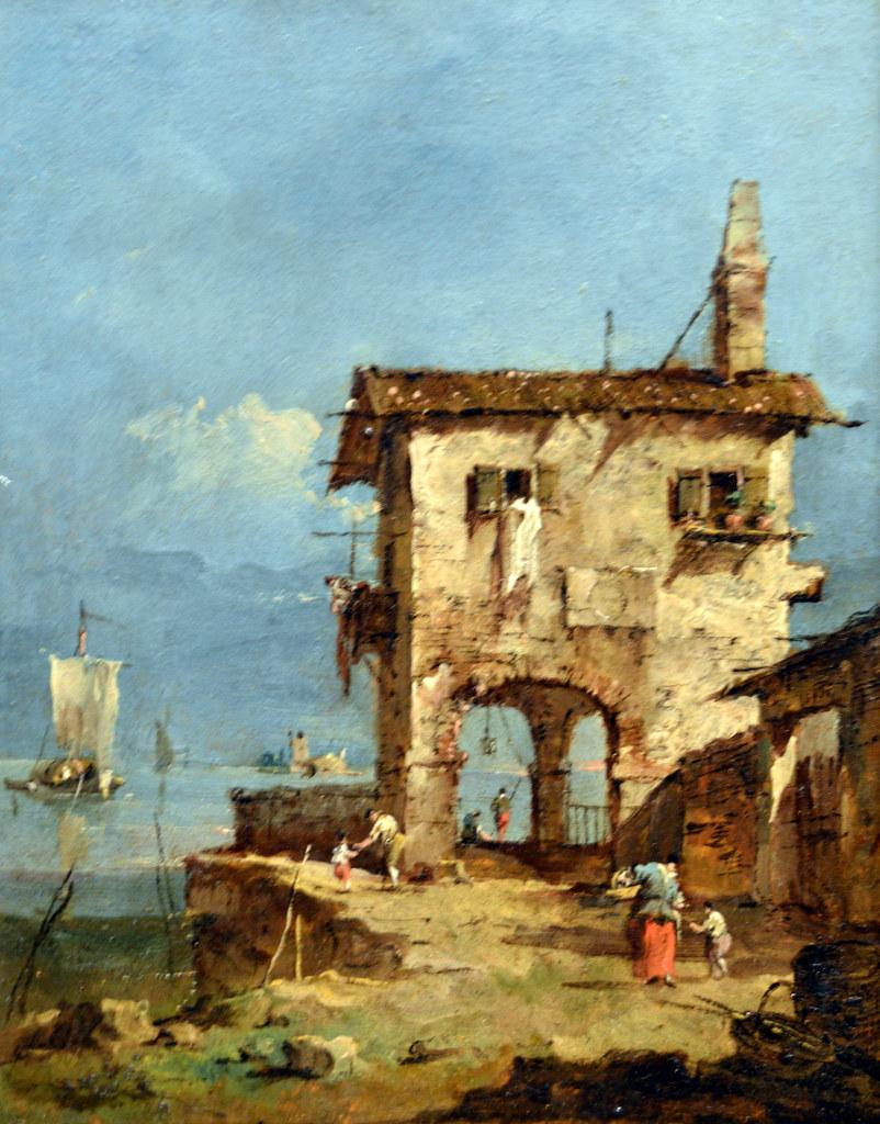 Francesco Guardi: Capriccio Altes Haus In Der Lagune, 178