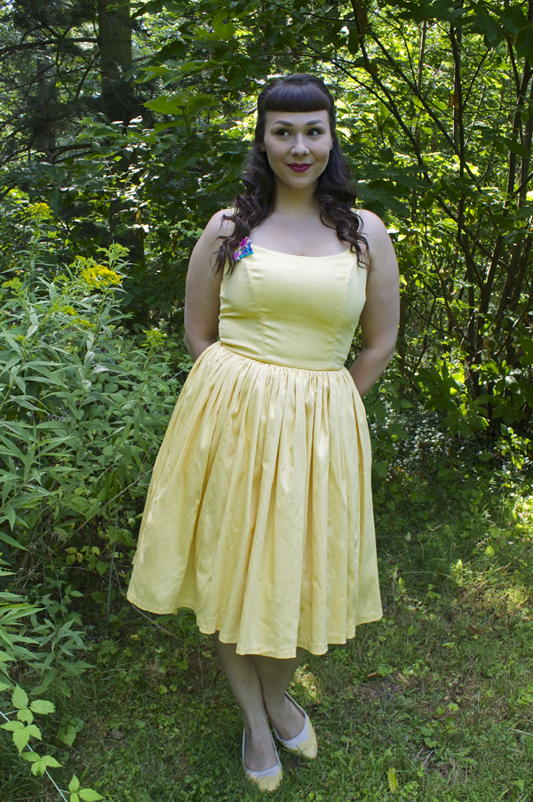 pinup couture jenny dress in yellow