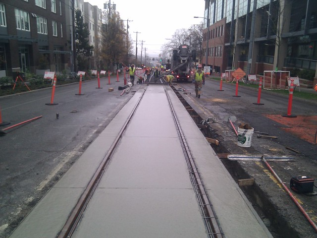 Pouring concrete from jefferson to terrace street 400 for Terrace 54 1717 broadway