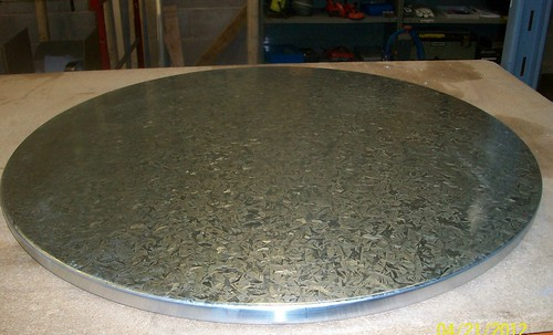 2 - Circular Spangled Finish Galvanised Steel Table Top | by Metal Sheets Limited