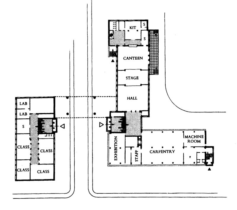 doc109 13510 ground floor plan bauhaus dessau 1925 26 flickr. Black Bedroom Furniture Sets. Home Design Ideas