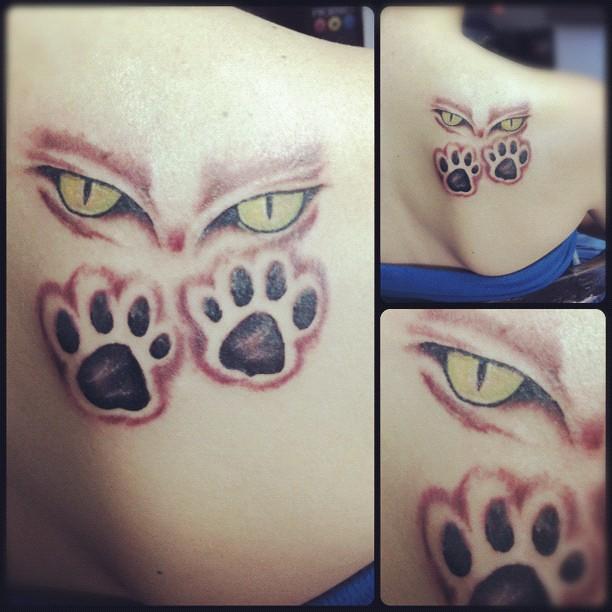 Tattoo De Hoy Cat Huellas Gato Artist Akolatronicm Flickr