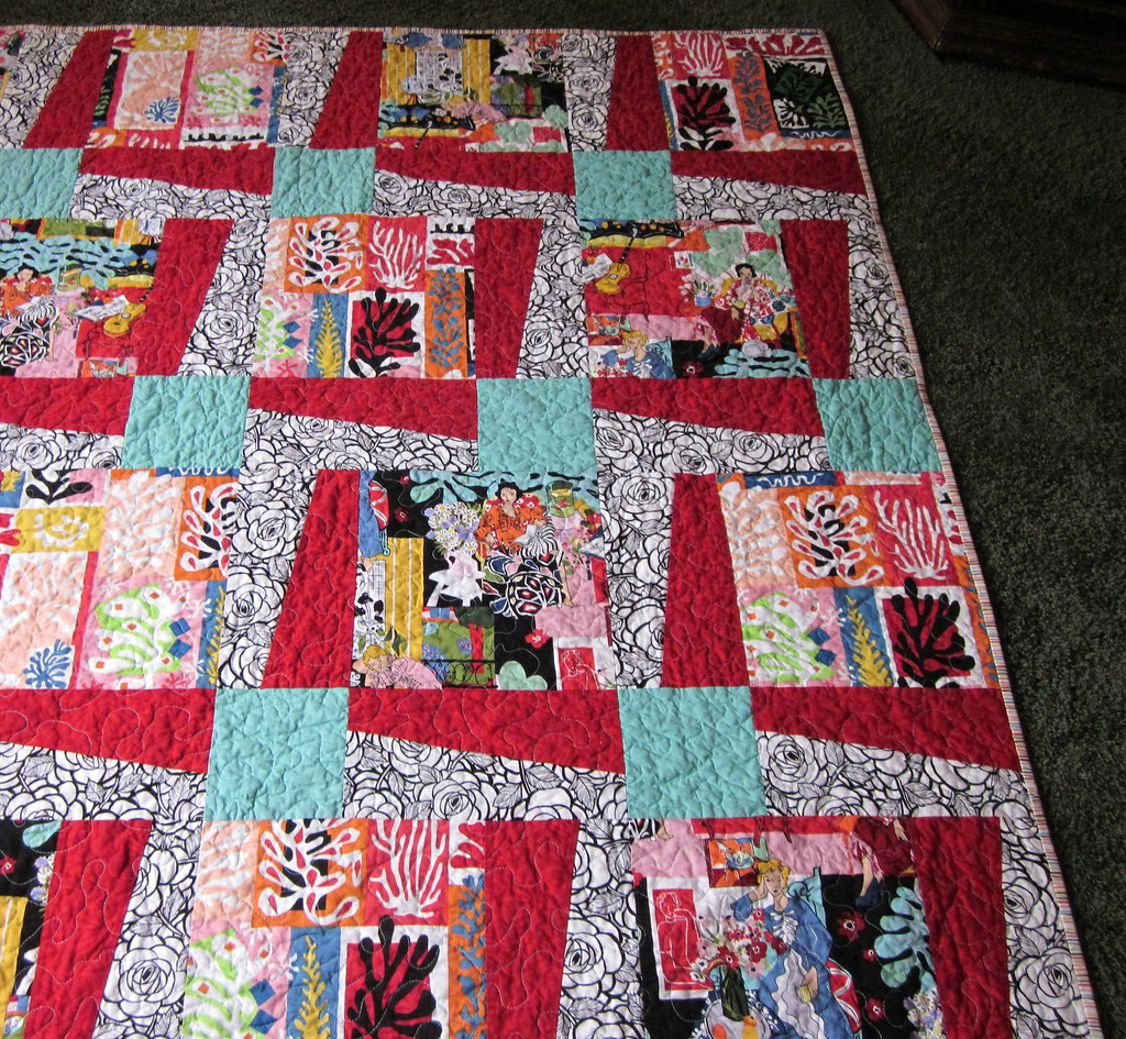 matisse quilt | Quilt for my mom made with Alexander Henry ...