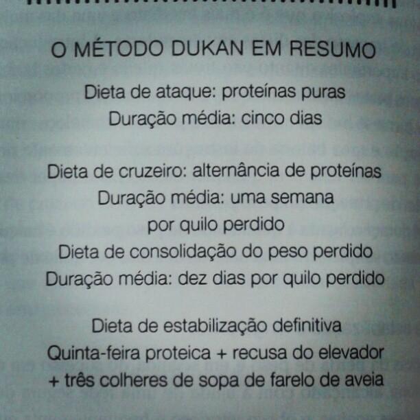 Resuminho Da Dietadukan Dukan Pag 26 Do Livro Sheila Campos