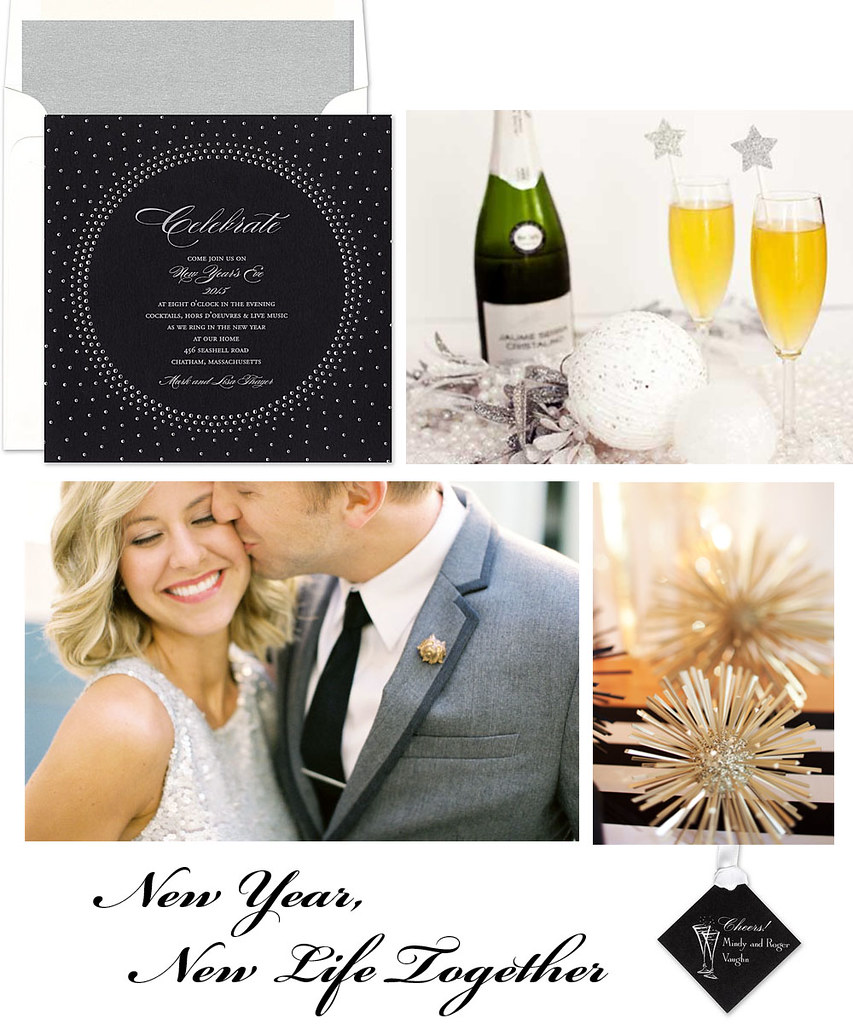 new years eve engagement party by finestationery