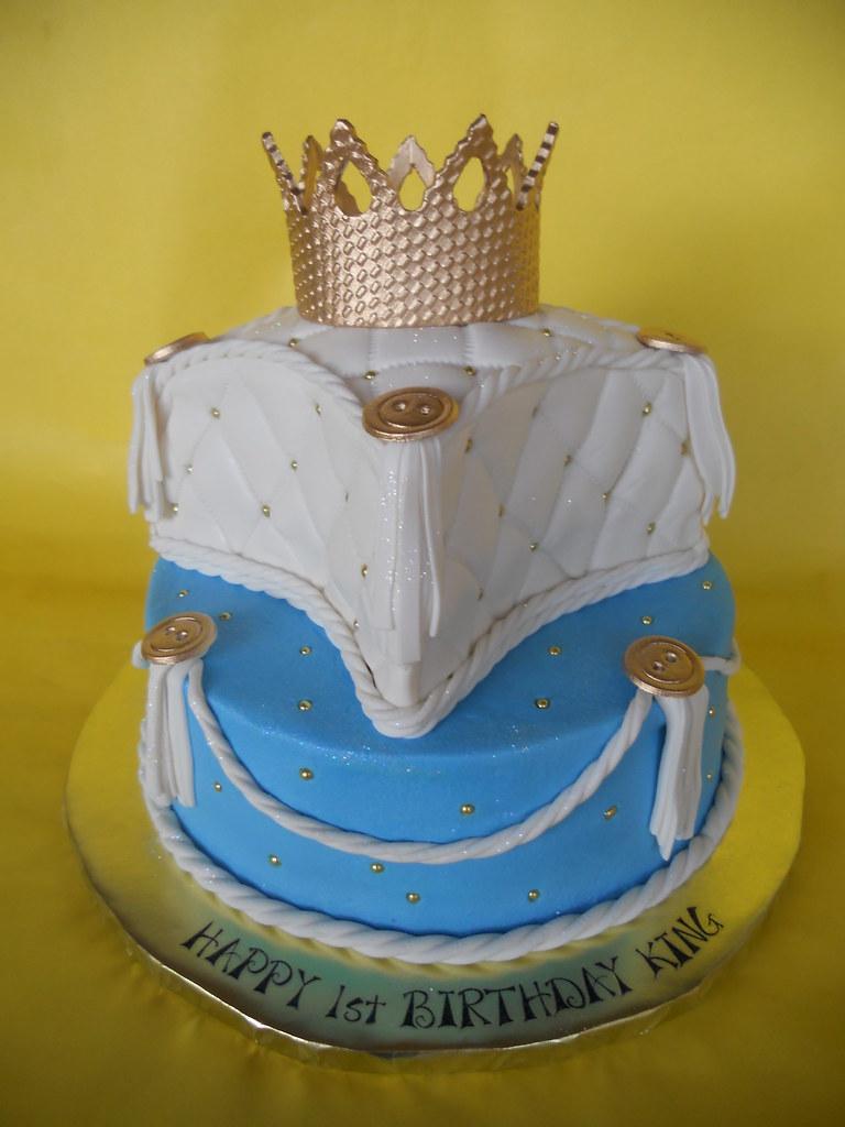 Little King 1st Birthday Cake Amy Stella Flickr