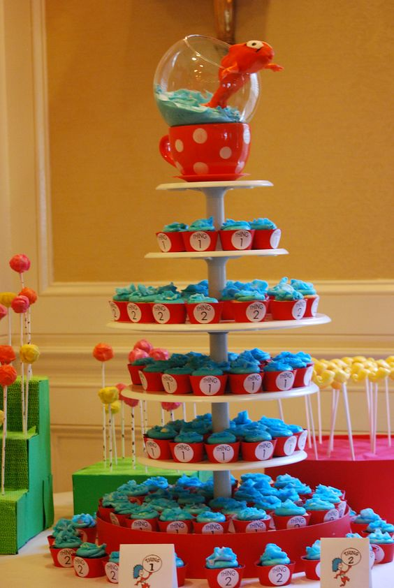 Thing 1 And Thing 2 Baby Shower Cake Image By Baby Ideas Flickr
