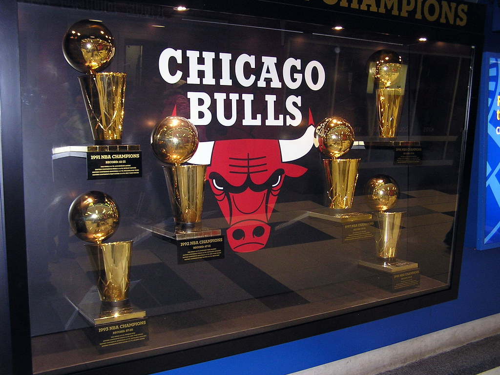 Chicago Bulls Six Championship Trophies | The Bulls Champion… | Flickr