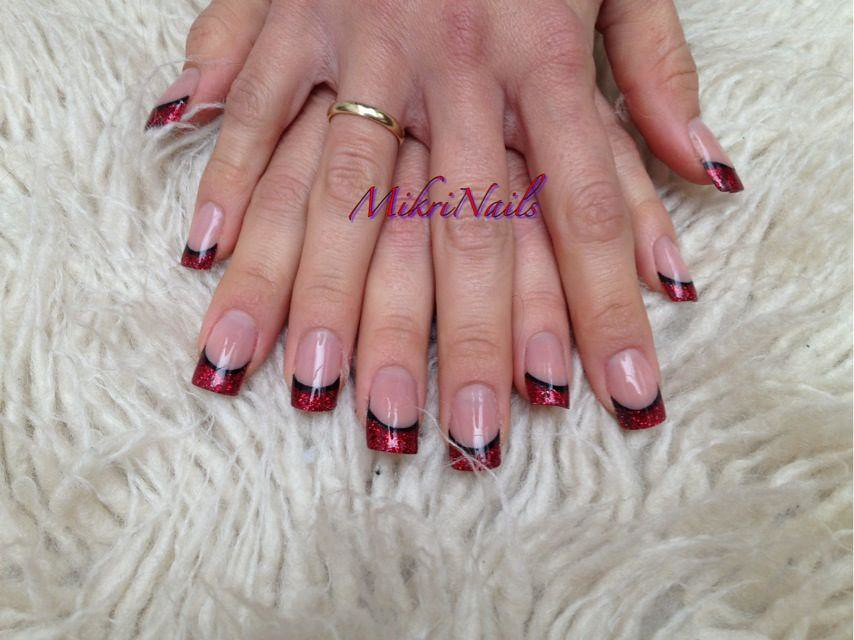 mikrinails glitter acrylics french manicure young nails ro… | Flickr