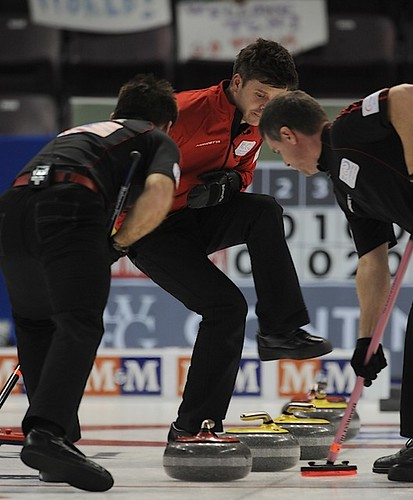Penticton B.C.Jan12_2013.World Financial Group Continental Cup.Team North America skip Heath McCormick.CCA/michael burns photo | by seasonofchampions