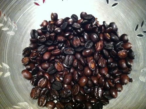 First batch of home roasted coffee