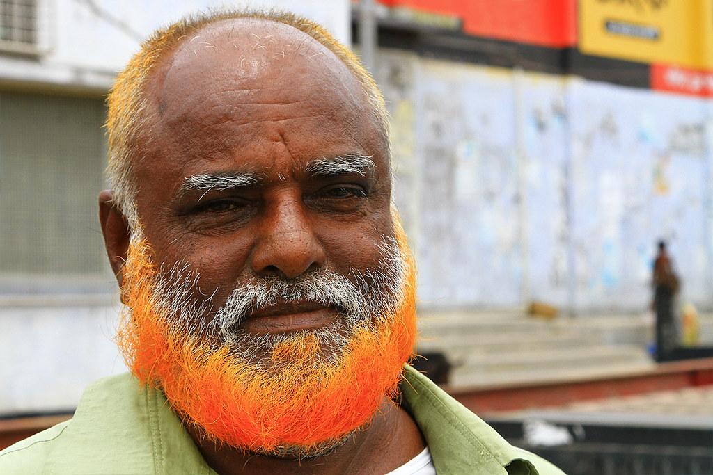 Man With An Orange Beard In Khulna Bangladesh This Orang Flickr