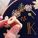 Stitching berry stems with rayon floss