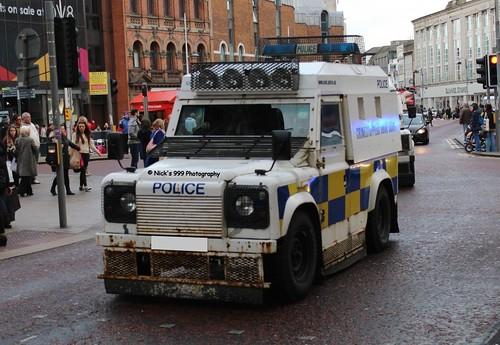 Police Service Northern Ireland Land Rover Tangi Riot