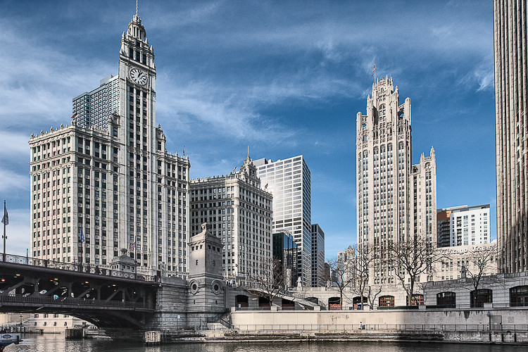 The Wrigley Building And Tribune Tower Chicago The