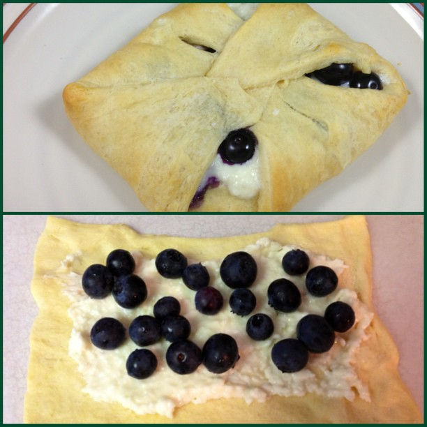 Blueberry Cream Cheese Sheet Cake