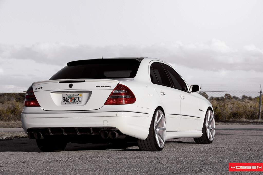 mercedes e55 amg cv7 cv7 silver polished f 20x9 r flickr. Black Bedroom Furniture Sets. Home Design Ideas