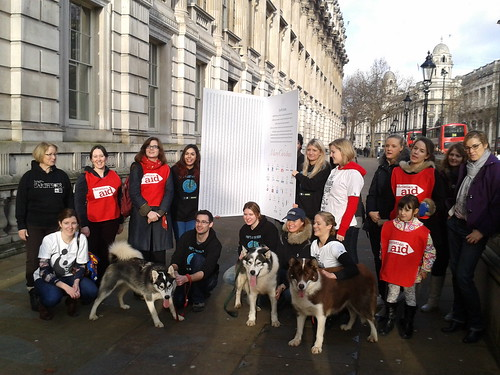 SCC delivers Christmas card to David Cameron | by The Climate Coalition (UK)