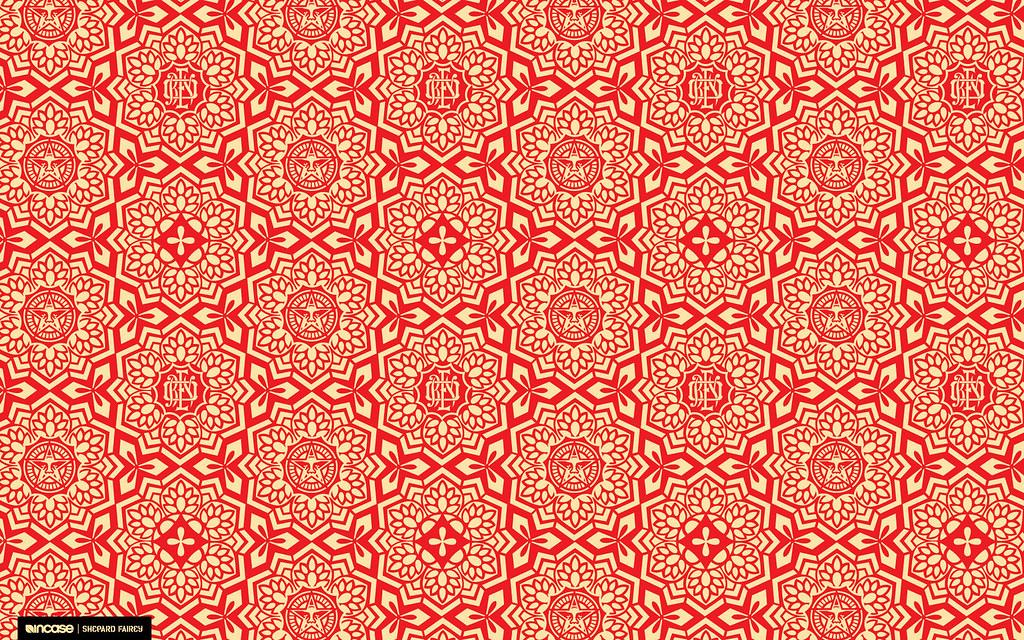 Shepard Fairey Yen Pattern Red | for Desktop | Incase | Flickr