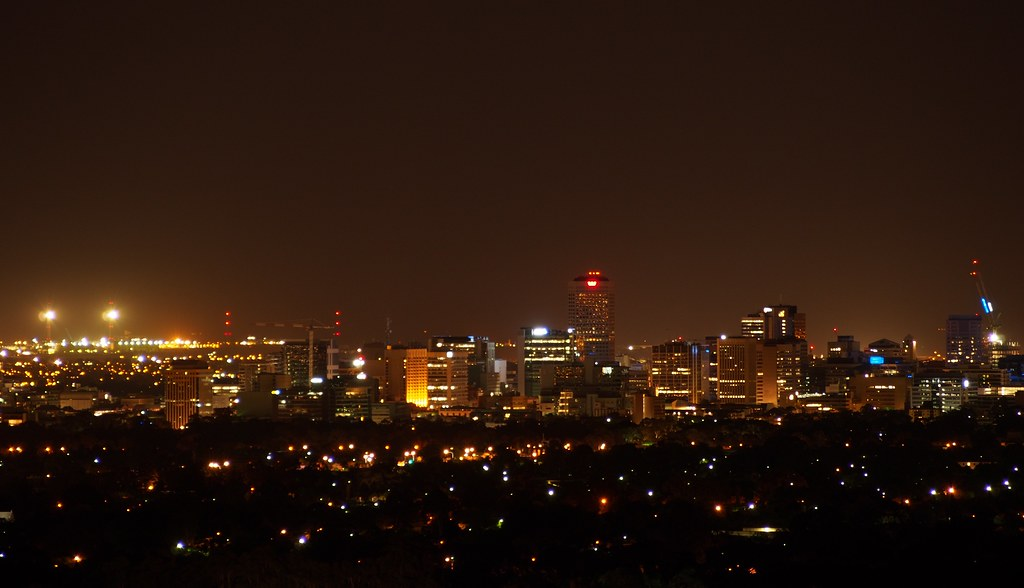 adelaide from carrick hill at night  december 2012  2