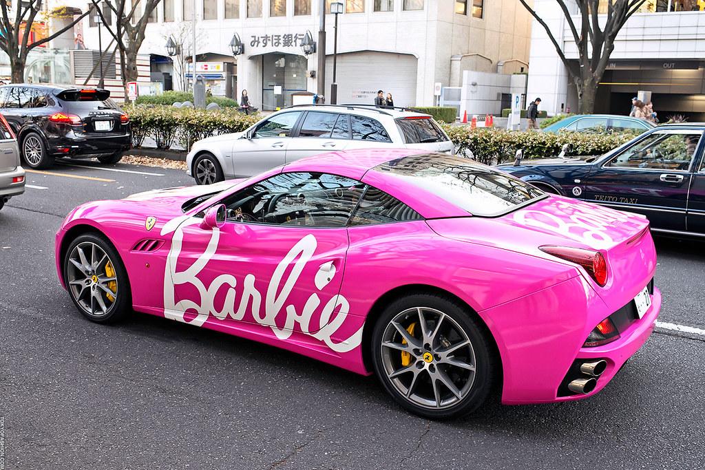 Barbie Ferrari Tokyo This Ferrari Painted Hot Pink With