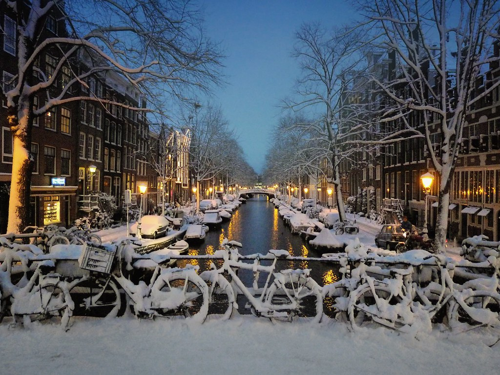 Snow Has Fallen Down In The Centre Of Amsterdam 169 All