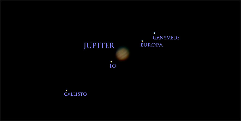 jupiter and its moons with white back - photo #19