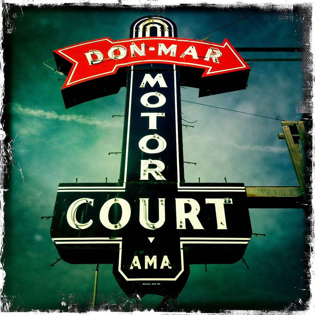 The Still Standing Don Mar Motor Court S Vintage Neon Sign